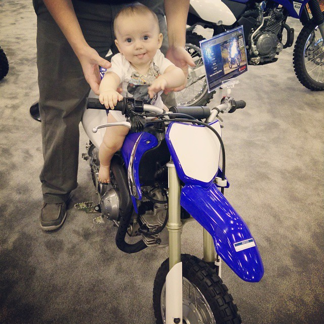 Picking out his first motorcycle. by bartlewife