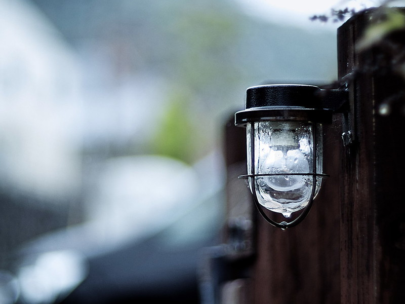 a gate lamp