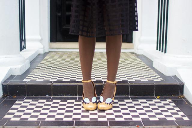 Chie Mihara quirky eyelash heels