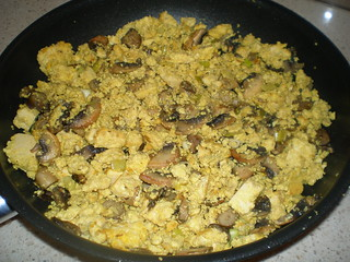 Scrambled Tofu and Mushrooms