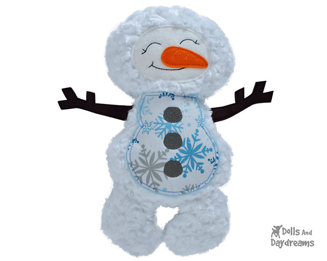 Snowman ITH Embroidery Machine Pattern