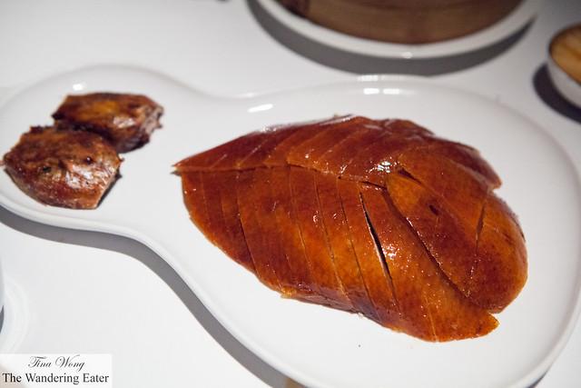 The sliced Peking duck