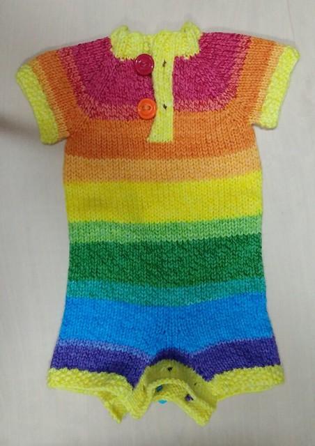 Newborn/Small Rainbow Shortie Romper