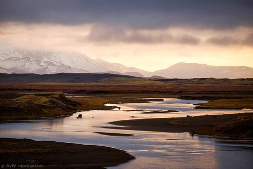 autumn sunset oktober nature river landscape iceland zonsondergang october herfst natuur landschap isl ijsland norðurlandeystra