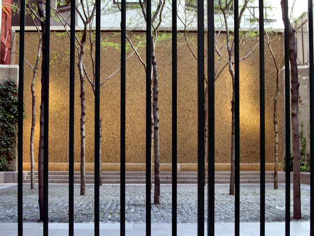 Looking through the gates of Paley Park