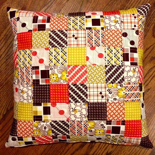 Denyse Schmidt Hadley autumn patchwork pillow top