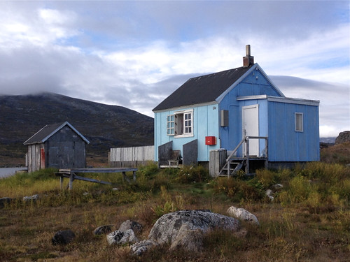 Greenland Nanortalik blue house