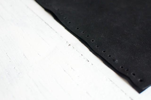 Make a fringed leather clutch from scratch www.apairandasparediy.com