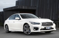 infiniti qx70(0.0), sports car(0.0), automobile(1.0), automotive exterior(1.0), executive car(1.0), wheel(1.0), vehicle(1.0), performance car(1.0), automotive design(1.0), rim(1.0), bumper(1.0), sedan(1.0), infiniti(1.0), land vehicle(1.0), luxury vehicle(1.0),