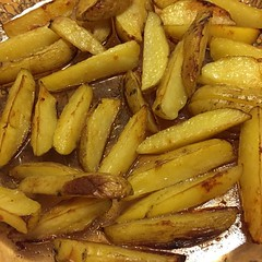 cooking plantain(0.0), banana(0.0), plant(0.0), produce(0.0), french fries(0.0), junk food(1.0), vegetable(1.0), food(1.0), potato wedges(1.0), dish(1.0), cuisine(1.0), root vegetable(1.0),