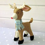 Christmas Reindeer Softie