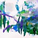 Violet / Fresh Greens by Suz .. Abstract Art