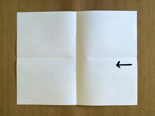 One-Sheet Mini-Zine Step 2