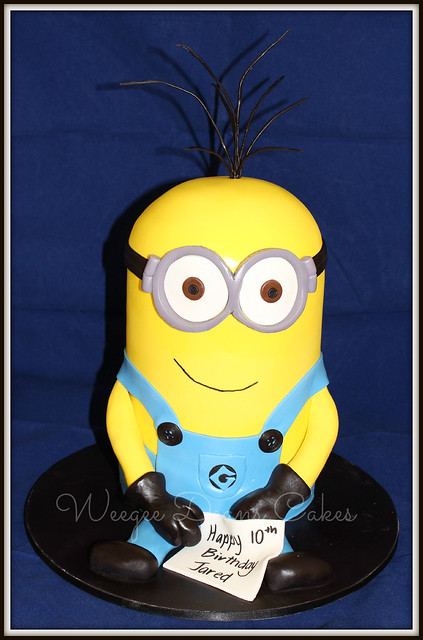 Kevin Minion 3D Cake  Flickr - Photo Sharing!
