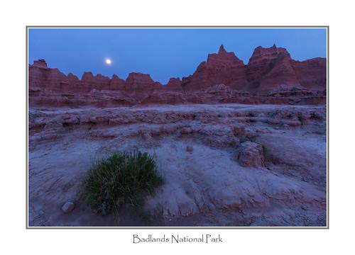 moon southdakota badlandsnationalpark