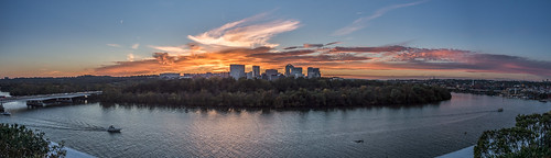 Panorama Sunset Over Rosslyn by Geoff Livingston