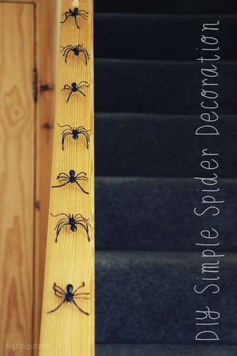 diy simple spider decoration for halloween eightandsixteen