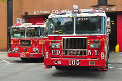 FDNY Engine 219 and Tower Ladder 105