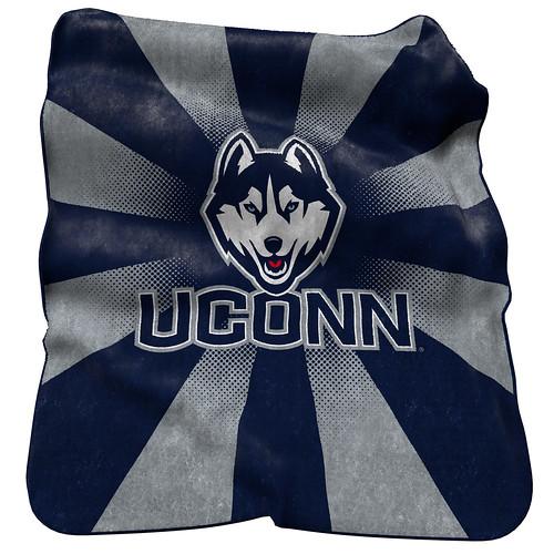 UCONN Huskies NCAA Raschel Blanket