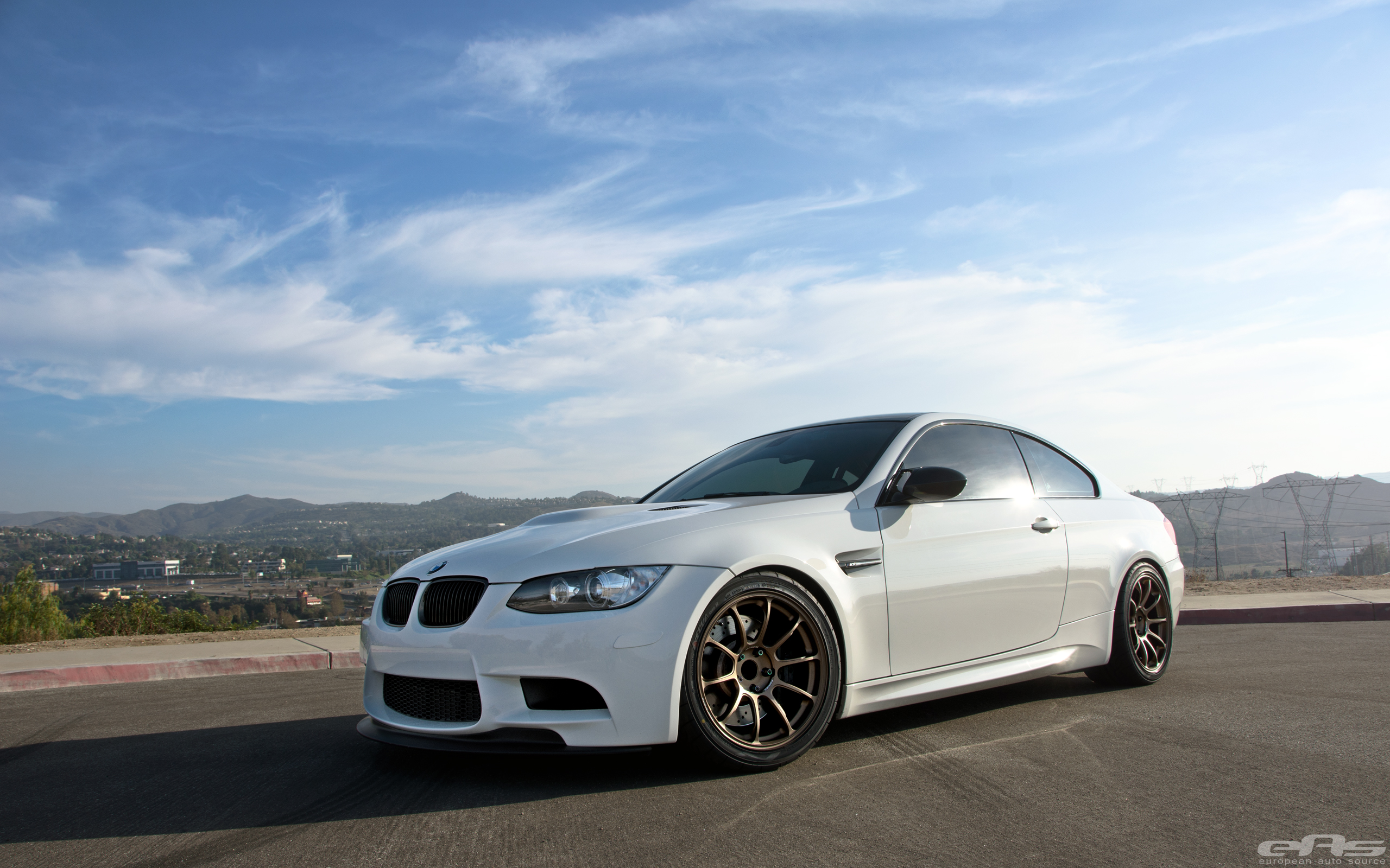 Alpine White E92 M3 On Volk Ze40 Wheels Bmw Performance Parts Amp Services