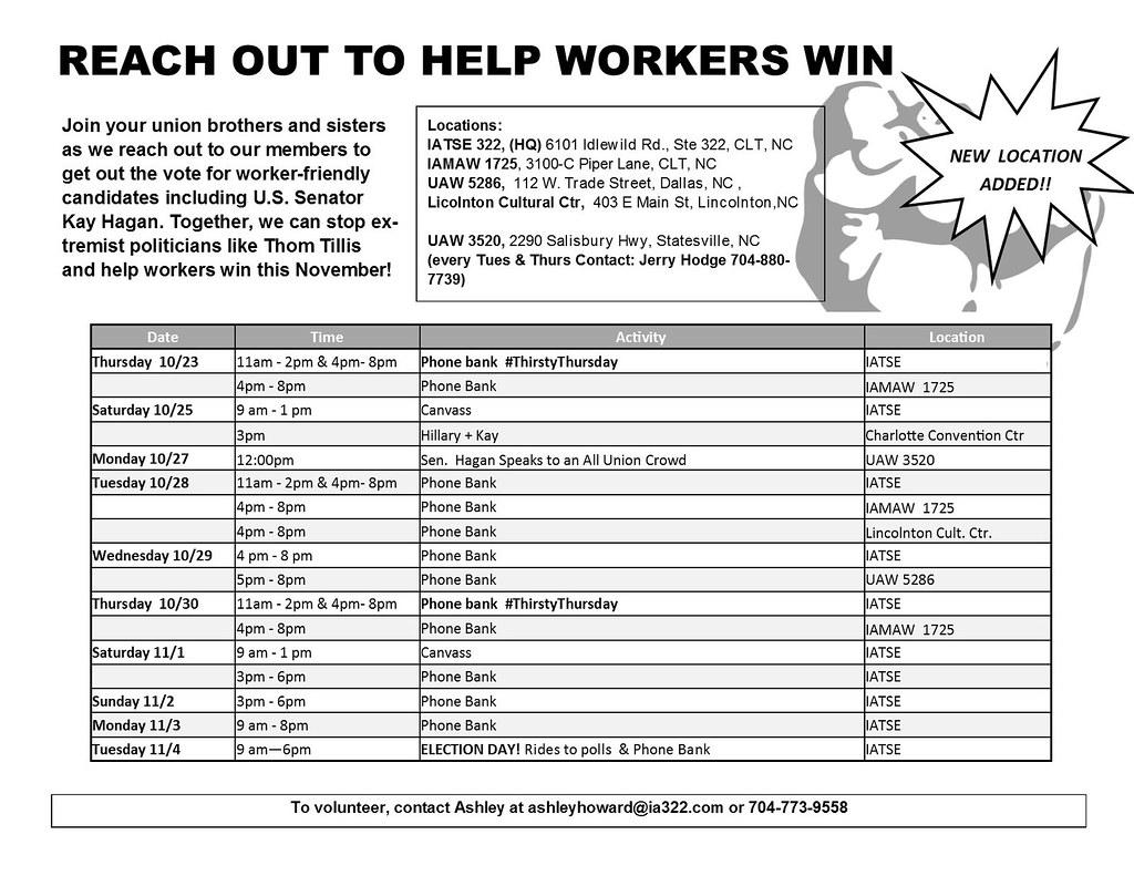 SP CLC Voter Mobilization Schedule V5 2