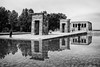 Temple of Debod in Black and White