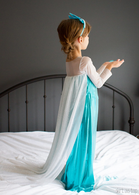elsa costume // skirt as top