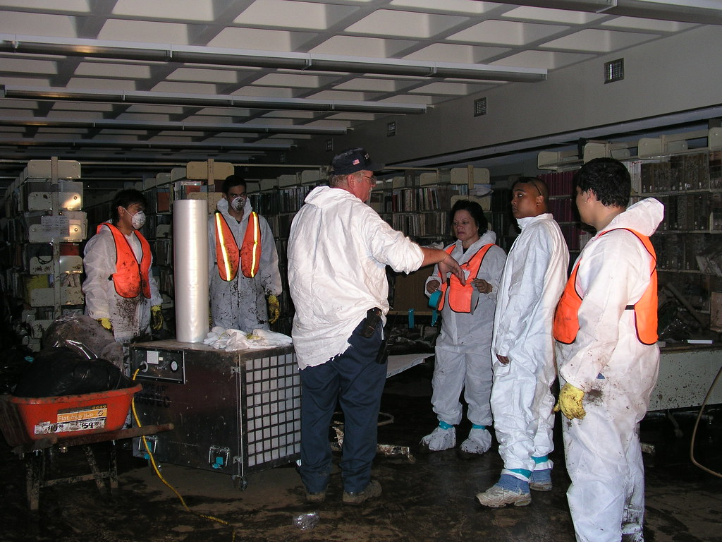 <p>The recovery effort began immediately—staff retrieved and clean damaged items.</p>