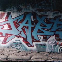 An early Jabs piece found in Santa Cruz, maybe around 1996.