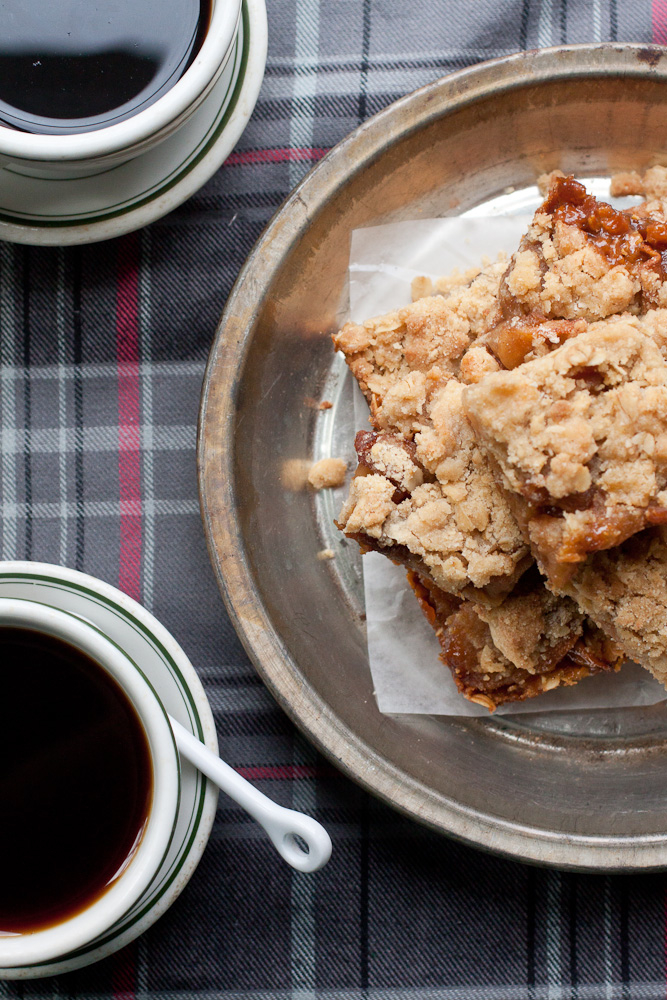 Apple Cider Caramel Crumb Bars