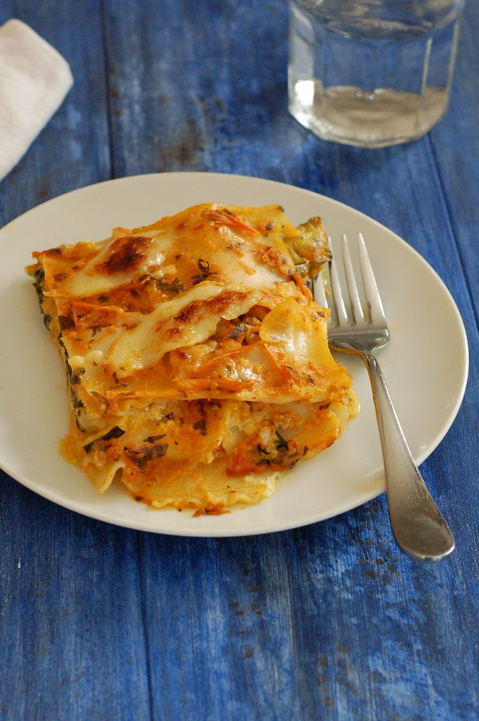Harvest lasagna by Eve Fox, The Garden of Eating, copyright 2014
