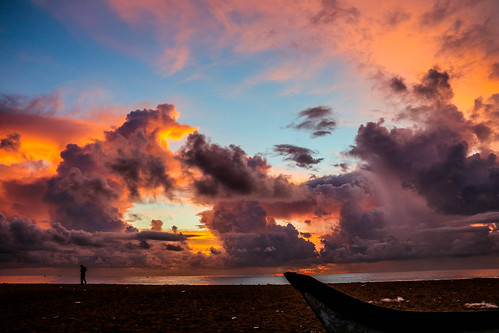 sky nature sunrise landscapes oceans