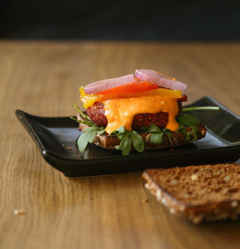 Vegetable-quinoa burger