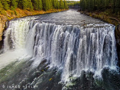 waterfall idaho aerialphotography uppermesafalls jamesneeley