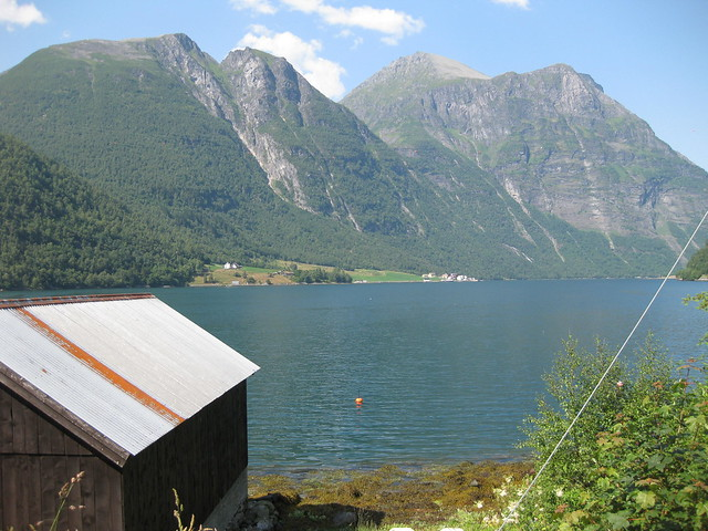 View from the Boathouse of fjord