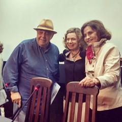 Mauro Mendonça, Rosa Ma Araújo e Rosamaria Murtinho no dia da gravação do depoimento dele pro MIS-RJ... BRAVOOO ! #AplausoBlogAuroradeCinema @roseiramur