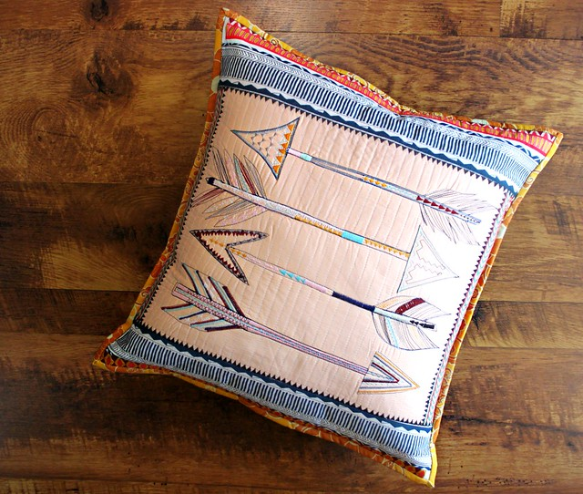 An Arrow Sketch Pillow