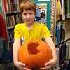 PacMan pumpkin. Great pumpkin celebration at Deshaye Catholic School.