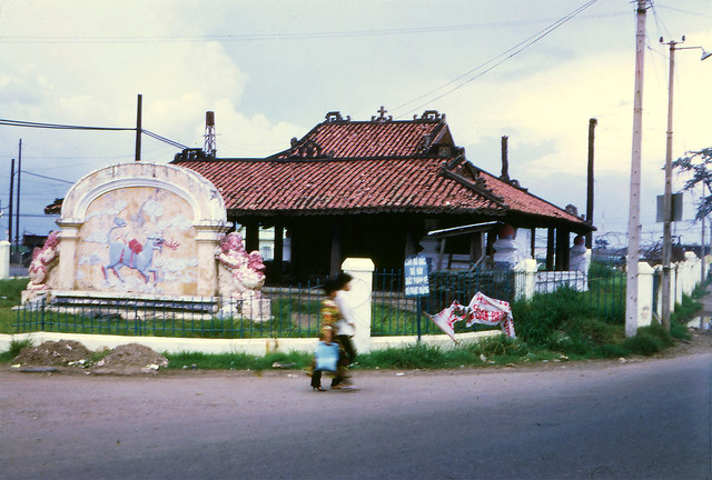 SAIGON 1970 - Another exterior view of the Pigneau de Béhaine mausoleum
