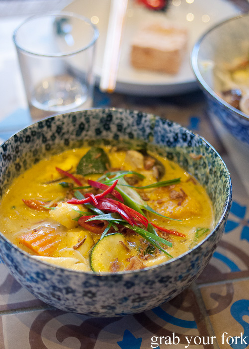 Coconut tamarind curry at Mama's Buoi, Surry Hills