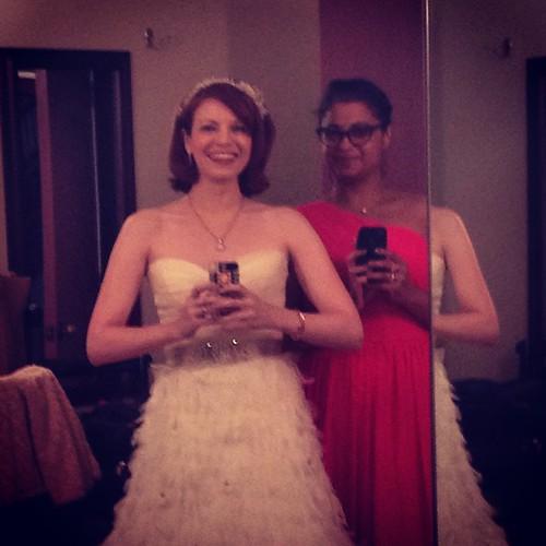 The bride & me being super fierce 👰💎
