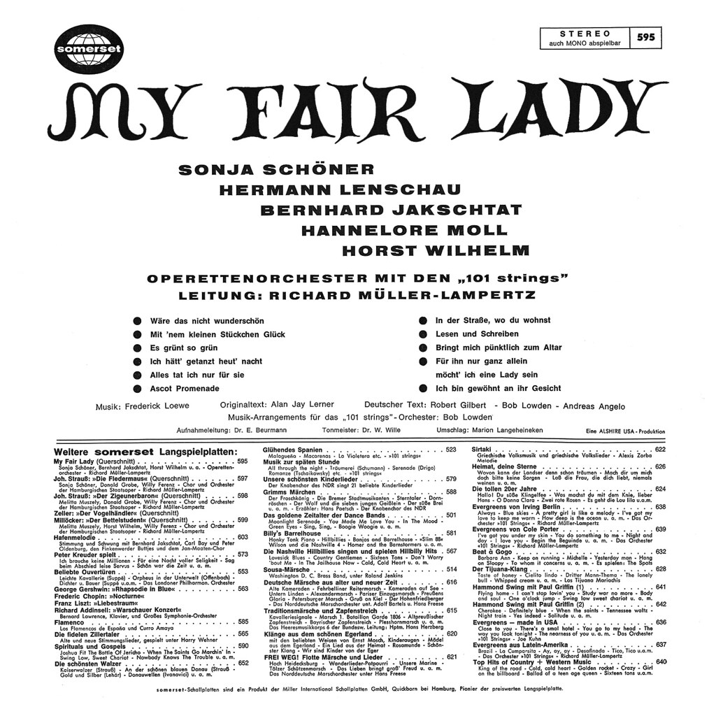 Richard Müller-Lampertz & 101 Strings - My Fair Lady