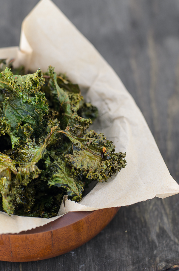 Kale makes a nice healthy crisp finger food.