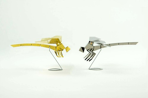 Foldable dragonfly sculptures - Kickstarter project, Poligon
