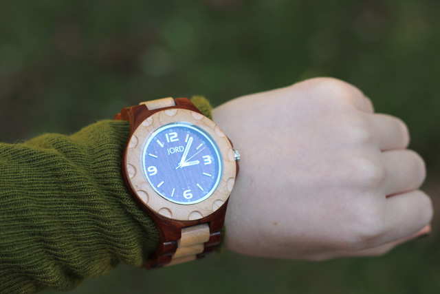 JORD Sully Wood Watch in Cherry and Maple
