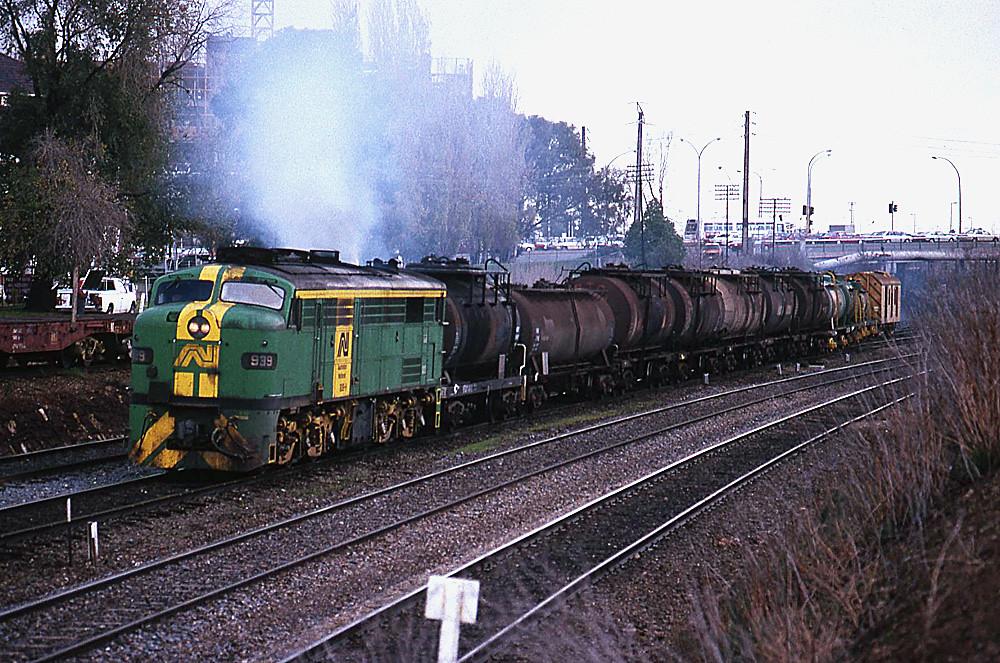 Morning train to Port Stanvac by Bingley Hall