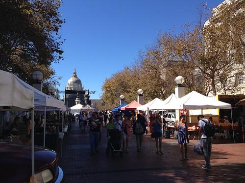 Farmer's Market at Civic Center in San Francisco