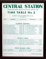 Memphis Central Station Timetable