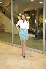 White shirt and Gingham miniskirt_2