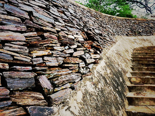 Wall along stairs
